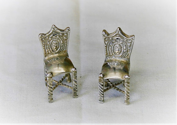 Miniature Continental Silver Chairs