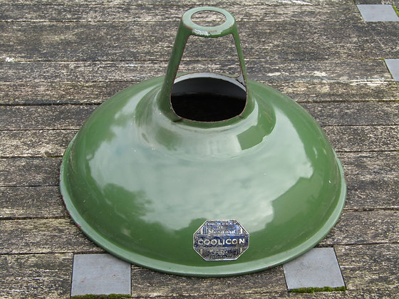 Original Coolicon Green Enamelled Lampshades