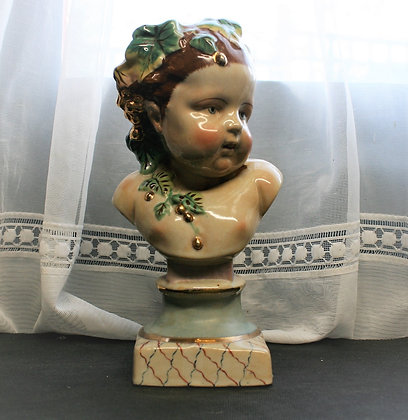 19thc Staffordshire Bust of a Child (2)
