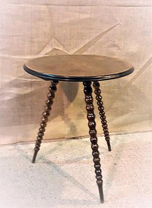 19thc Tripod Gypsy Table with Bobbin Legs