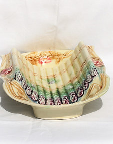 French 19thc Majolica Asparagus Server