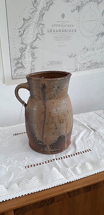 A very large Salt glaze Terracotta Jug