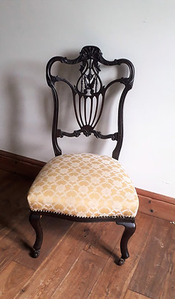 Pretty Late Victorian Bedroom Chair