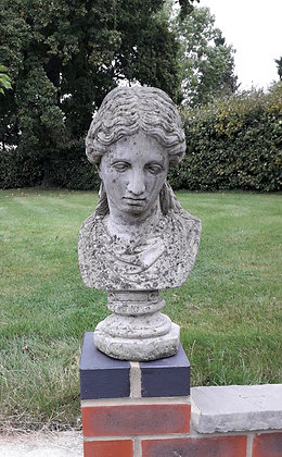 Vintage nicely aged composite stone bust