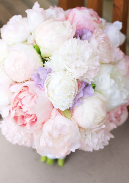 Peony peonies wedding bouquet silk artificial hire pink white