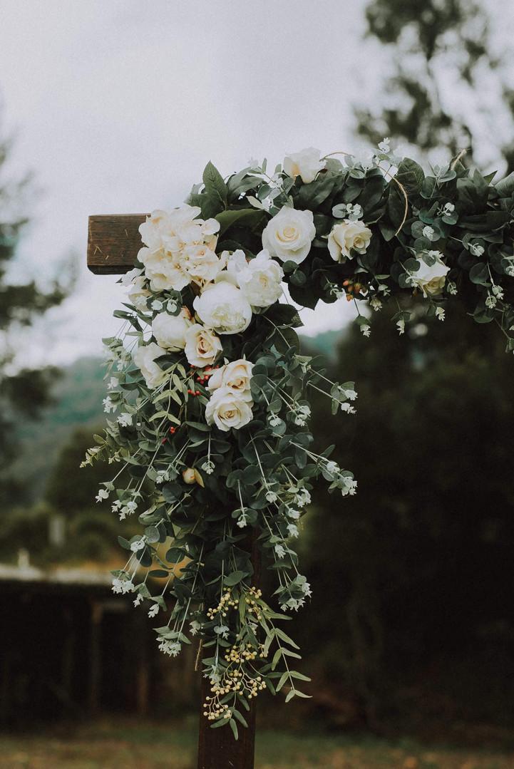 Wedding arch flowers arbour