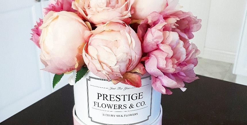 Pink Peonies Flower Box
