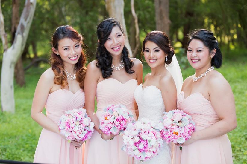 Artificial wedding bouquets silk flowers online melbourne australia florist peonies peony pink