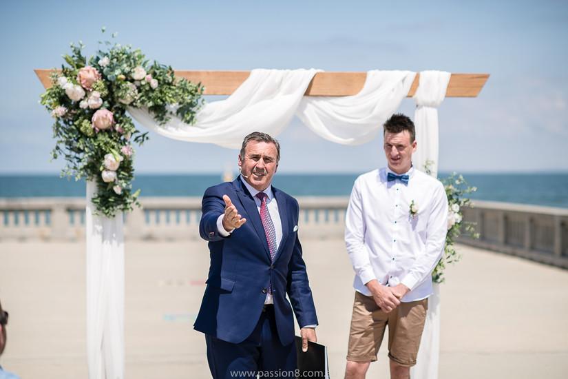 Beach wedding Melbourne hire florist floral