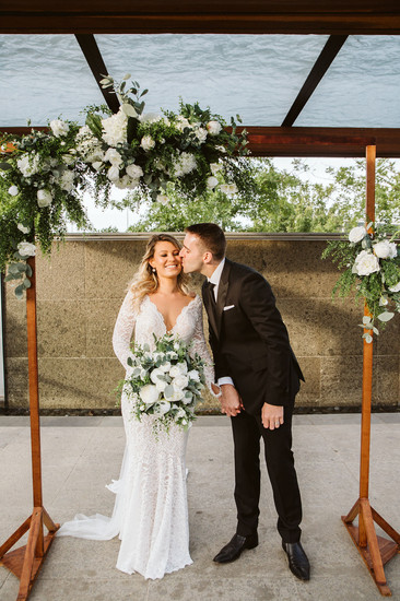 Wedding archway flowers ceremony silk artificial florist