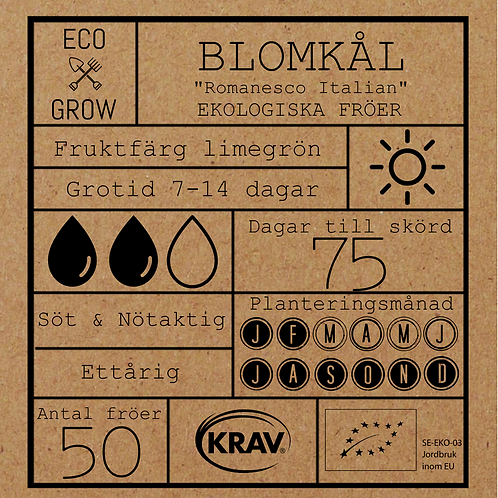 "Blomkål ""Romanesco Italian"""