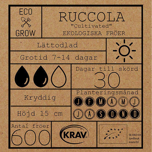 "Ruccola ""Cultivated"""