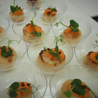 Seared Scallop with Carrot Puree & Crisp