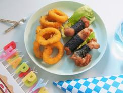 日式紫菜雞卷拼雞肉洋蔥脆圈