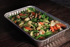 蒜片炒野菌雜菜
