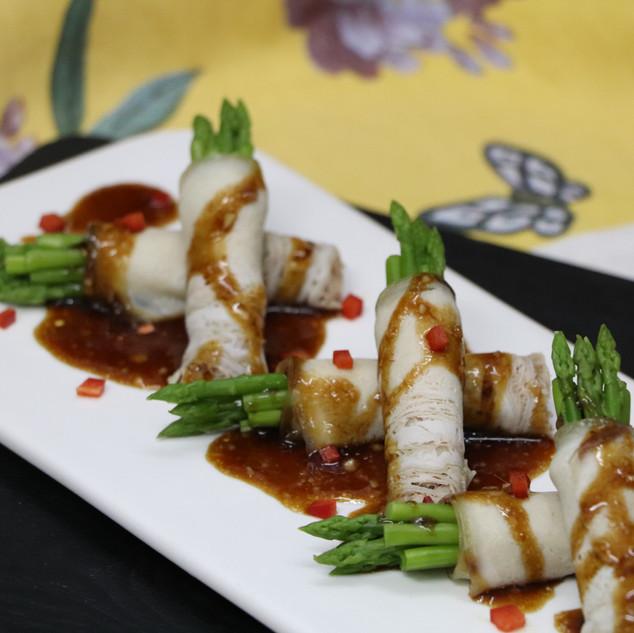 Pork Belly Asparagus Roll