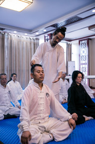 Master Yuan Correcting Posture