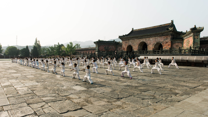 Training at YuXu Temple