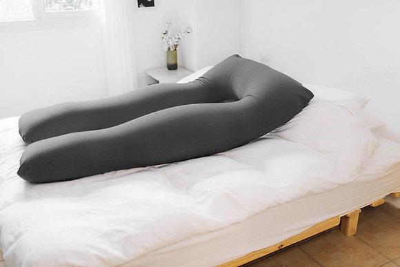 כרית הריון גדולה - אפור כהה