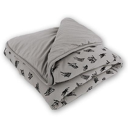 שמיכת מילוי למיטת תינוק - אורנים אפור מעודן