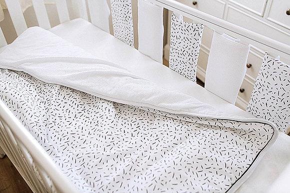 סט מצעים + מגני סורגים למיטת תינוק - קונפטי