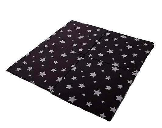 מזרן מתקפל לארבעה חלקים- דגם עמרי כוכבים אפורים