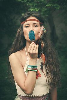 beautiful bohemian fashion style young w
