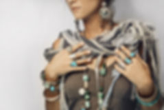 close up of woman with boho style access