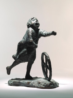 Running Girl with a Wheel 1954
