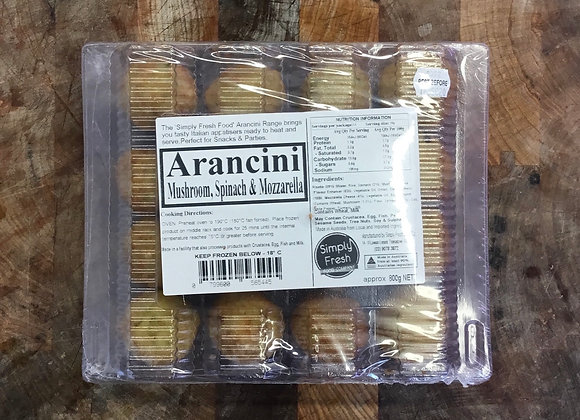 Arancini - Mushroom, Spinach and Mozzarella