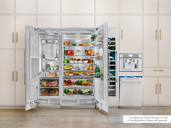 Thermador Built in Freezer Column with External Water/Ice Dispenser