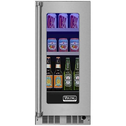 Viking - Professional 5 Series 5-Bottle and 35-Can Beverage Cooler