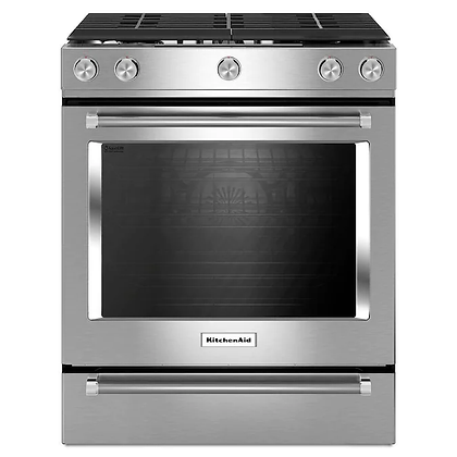 KitchenAid Slide-In Gas Range with Self-Cleaning Convection Oven