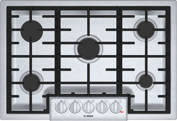 Bosch 800 Series 36 in. Gas Cooktop in Stainless Steel
