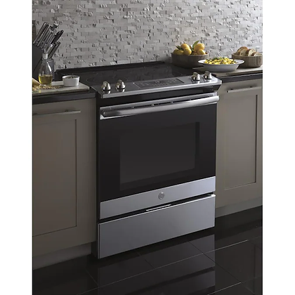 GE 30 in Slide-In Electric Range with Self-Cleaning Oven