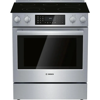 Bosch 30 in Slide-In Electric Range with warming drawer