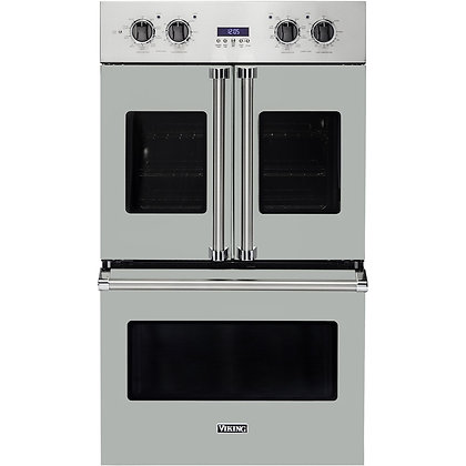 Viking 30 Inch French Door Double Wall Oven with Vari-Speed Dual Flow