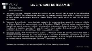 Les 3 formes de testament