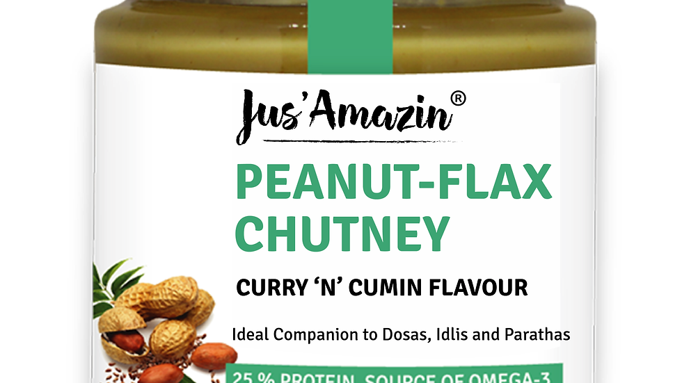 Peanut-Flax Chutney Curry 'n' Cumin Flavour