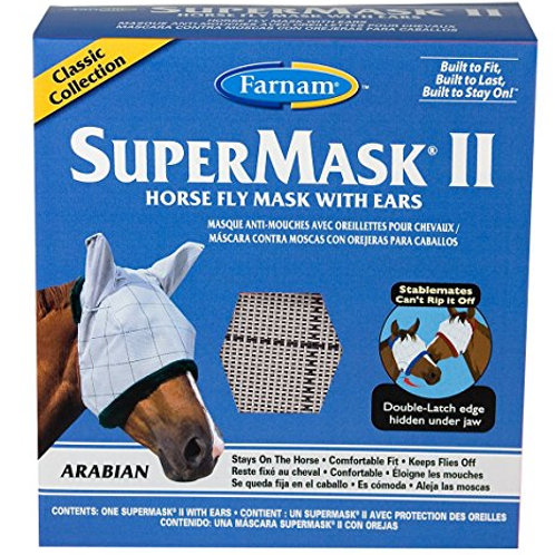 SuperMask II Horse Fly Mask with Ears (Arabian)