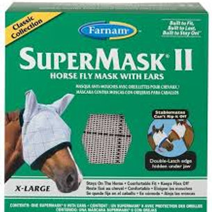 SuperMask II Horse Fly Mask with Ears XL