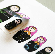 Nesting Doll Baby Announcement