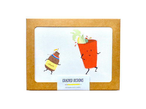 Bloody Mary + Chaser Notecard Set