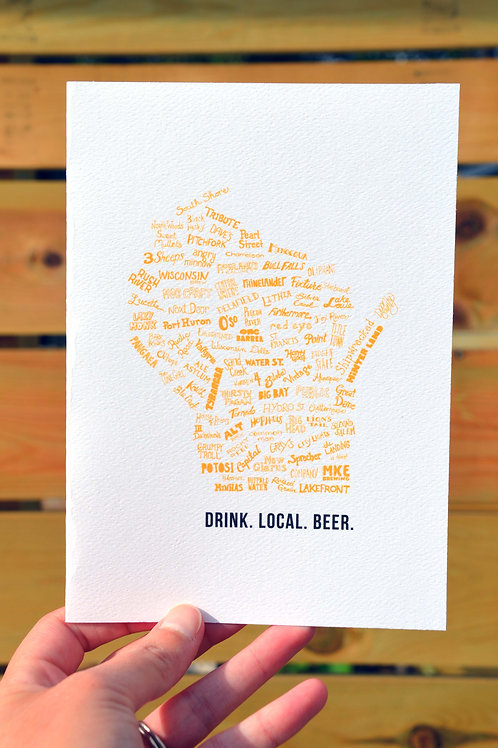 Drink Local Beer card