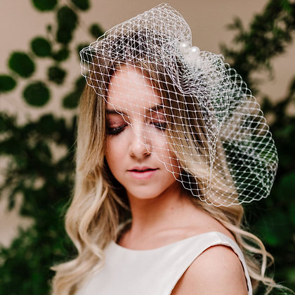 Purity Birdcage Veils
