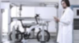 Prüfung der electornischen Fahrräder der BESV