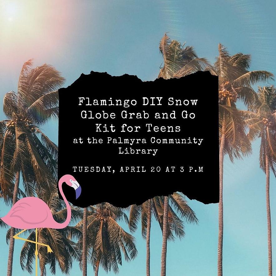 Flamingo DIY Snow Globe Grab and Go Kit