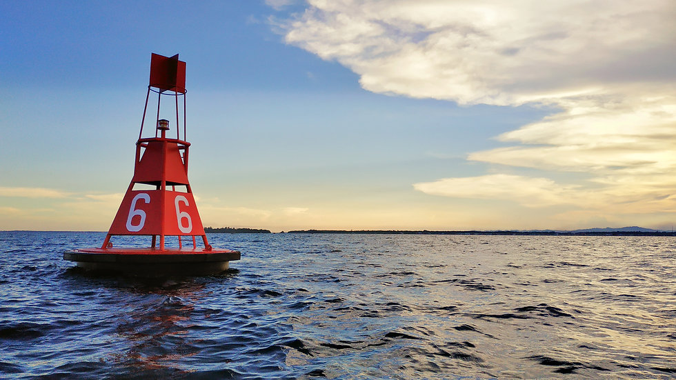 Sunset with Ocean Buoy. Great Image of S