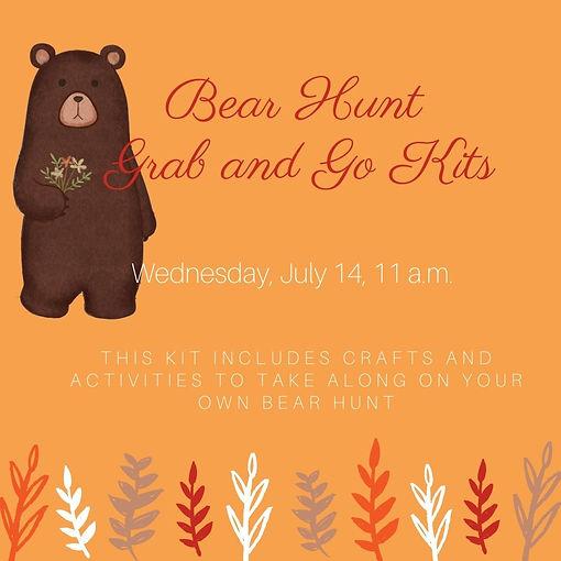Bear Hunt Grab and Go Kits Wednesday, Ju