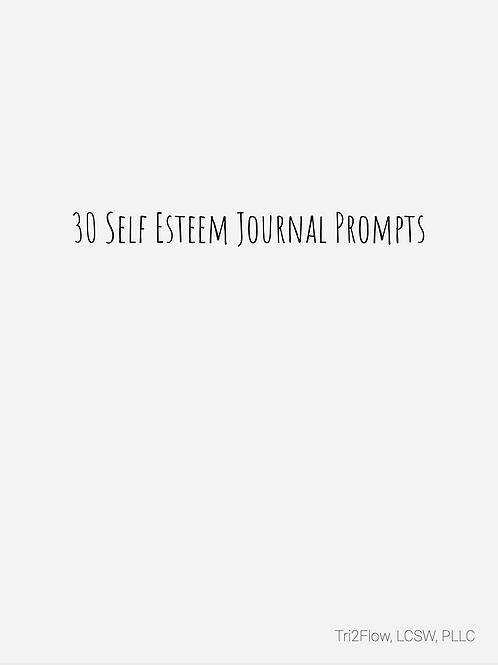 Self Esteem Journal Prompts